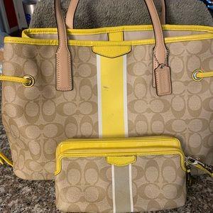 Coach handbag with matching wallet